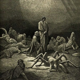 Illustration for Dante's Purgatorio of the Divine Comedy
