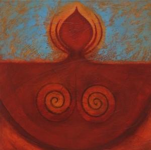 "'Blue Spirit', Glen Rogers, Oil on Canvas, 27"" x 27"""