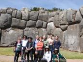 The group at Saqsayhuaman