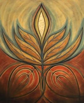 """Primevera , Oil on Canvas, 40"""" x 34"""""""